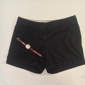 J. Crew Chino Short in Black. Size 8